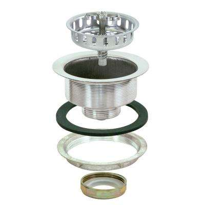 Spin and Seal 4-1/2 in. Sink Strainer in Stainless Steel