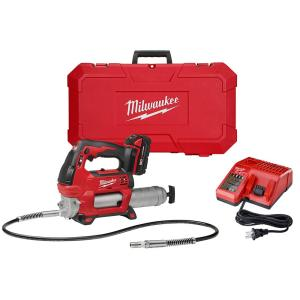 Milwaukee M18 18-Volt Lithium-Ion Cordless Grease Gun 2-Speed W/(1) 1.5Ah Batteries, Charger, Hard Case by Milwaukee