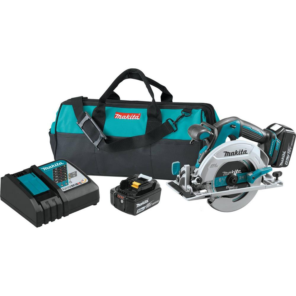 18-Volt 5.0Ah LXT Lithium-Ion Brushless Cordless 6-1/2 in. Circular Saw Kit