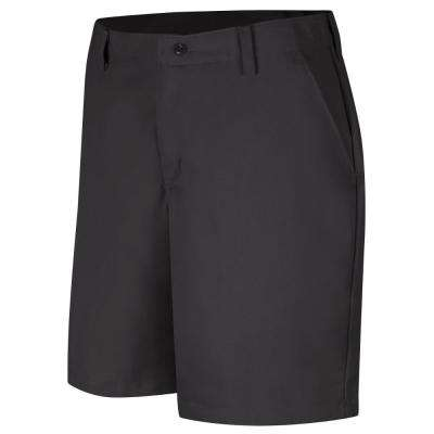 Women's Size 08 in. x 08 in. Black Plain Front Short