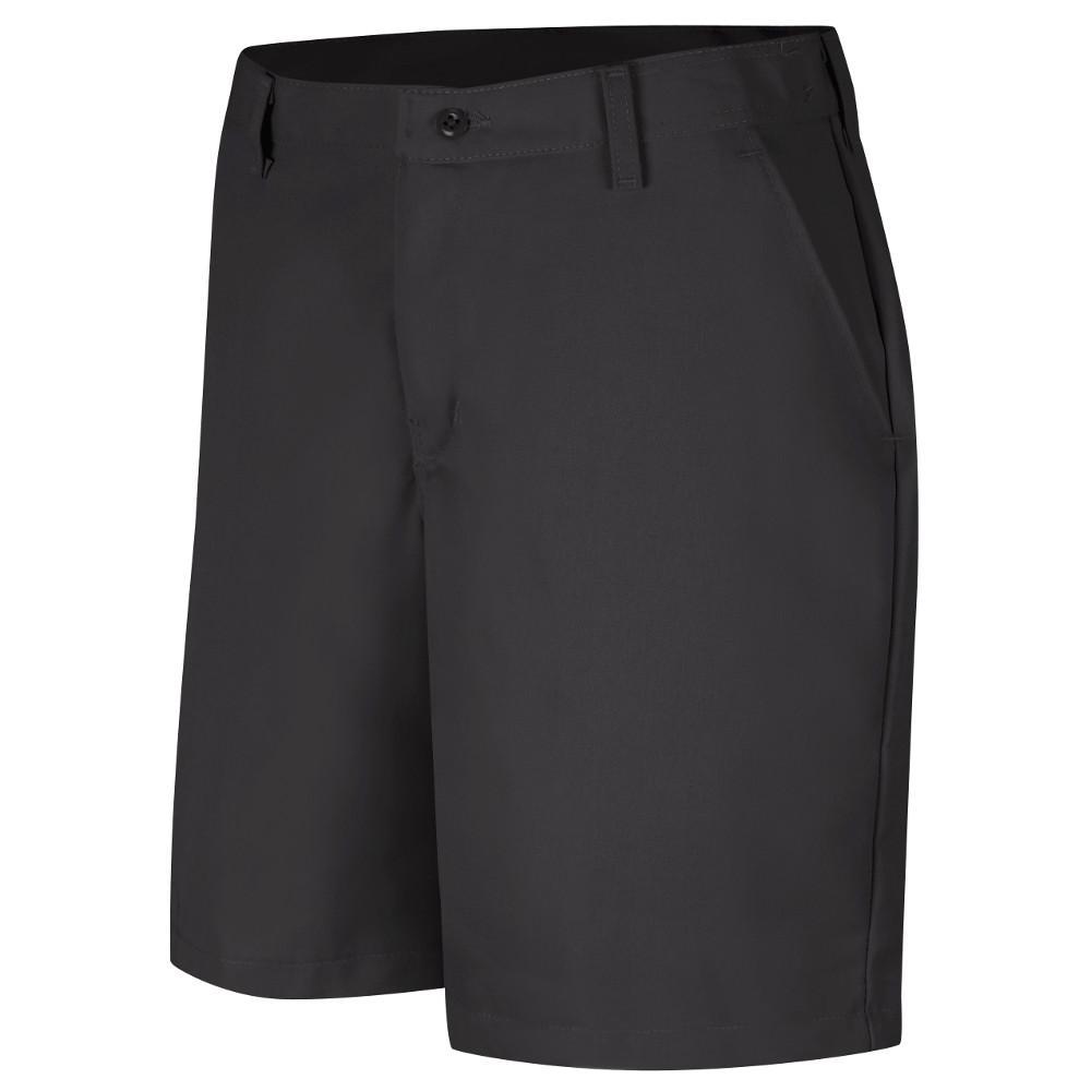 Women's Size 20 in. x 08 in. Black Plain Front Short