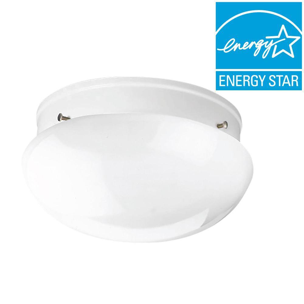UPC 785247191550 product image for Progress Lighting White Flush Mount Fluorescent Light ENERGY STAR (Common: 1-ft; | upcitemdb.com