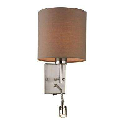 Sloane Square Collection 2-Light Brushed Nickel LED Sconce