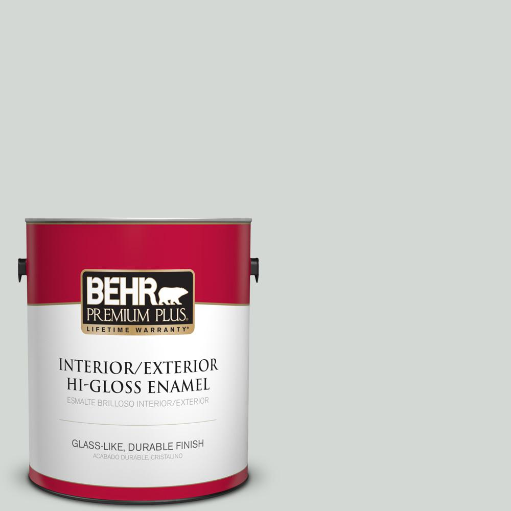 1 gal. #PPU25-13 Misty Coast Hi-Gloss Enamel Interior/Exterior Paint