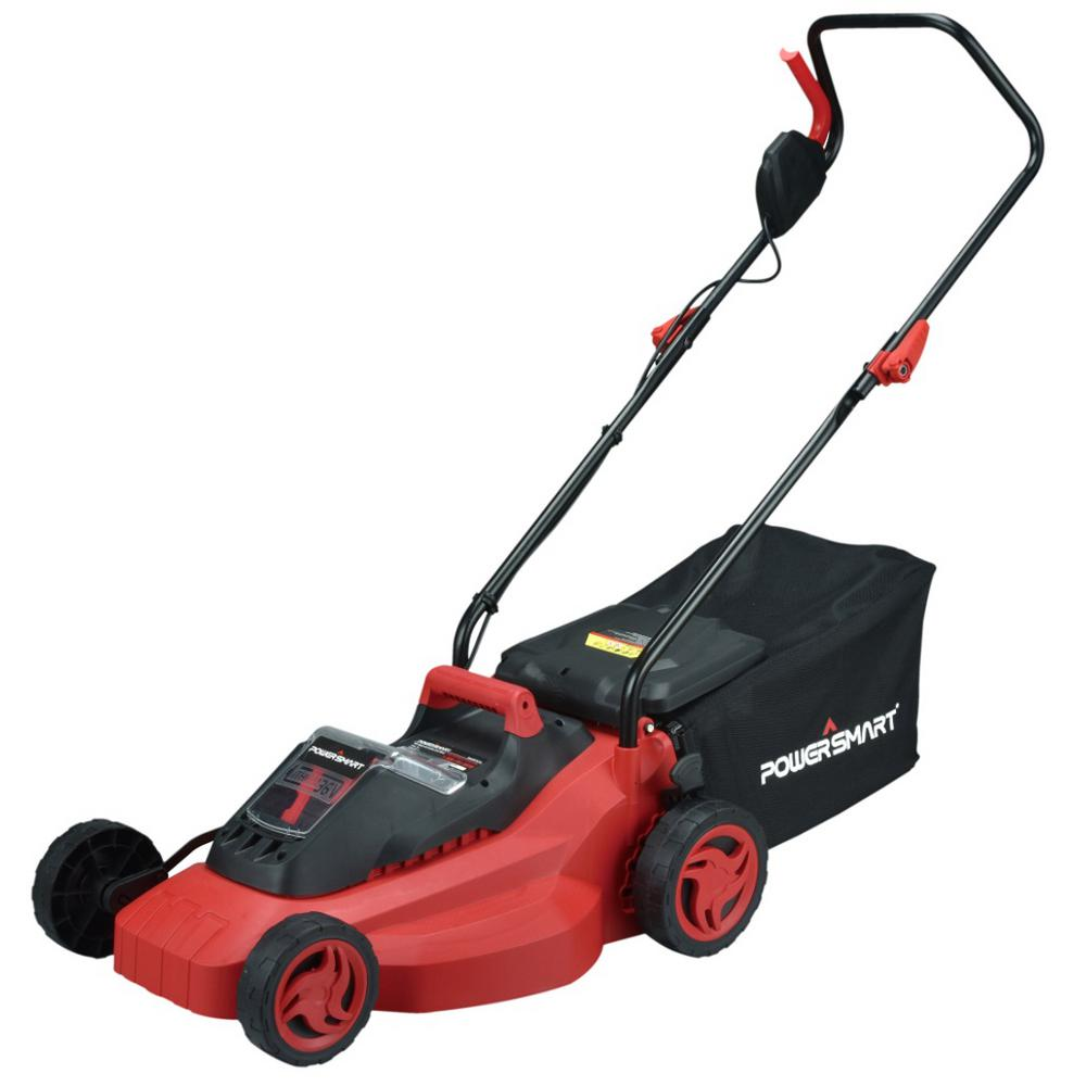 Powersmart PowerSmart 14 in. 36-Volt Lithium-Ion Cordless Battery Walk Behind Push Lawn Mower with 3Ah Battery/Charger included