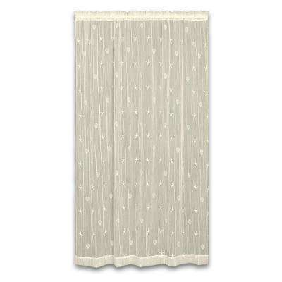 45 in. W x 84 in. L Sand Shell Polyester Ecru Lace Curtain
