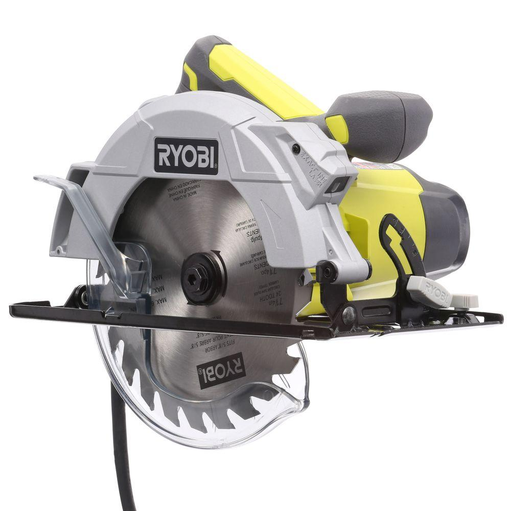 Ryobi 14 amp 7 14 in circular saw with laser csb143lzk the home ryobi 14 amp 7 14 in circular saw with laser csb143lzk the home depot greentooth Image collections