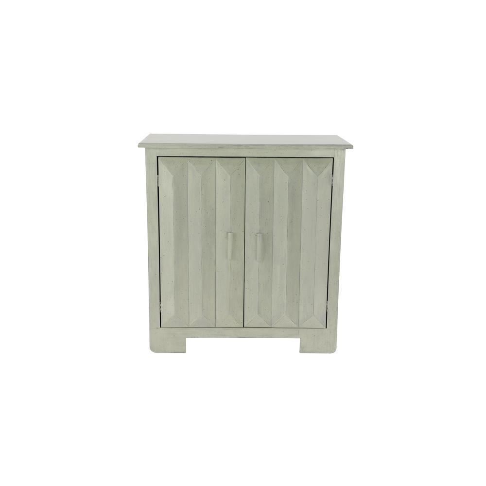 Litton Lane Textured Off-White 2-Door Accent Cabinet 36030