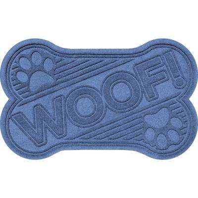 Navy 24 in. x 36 in. Woof Pet Mat