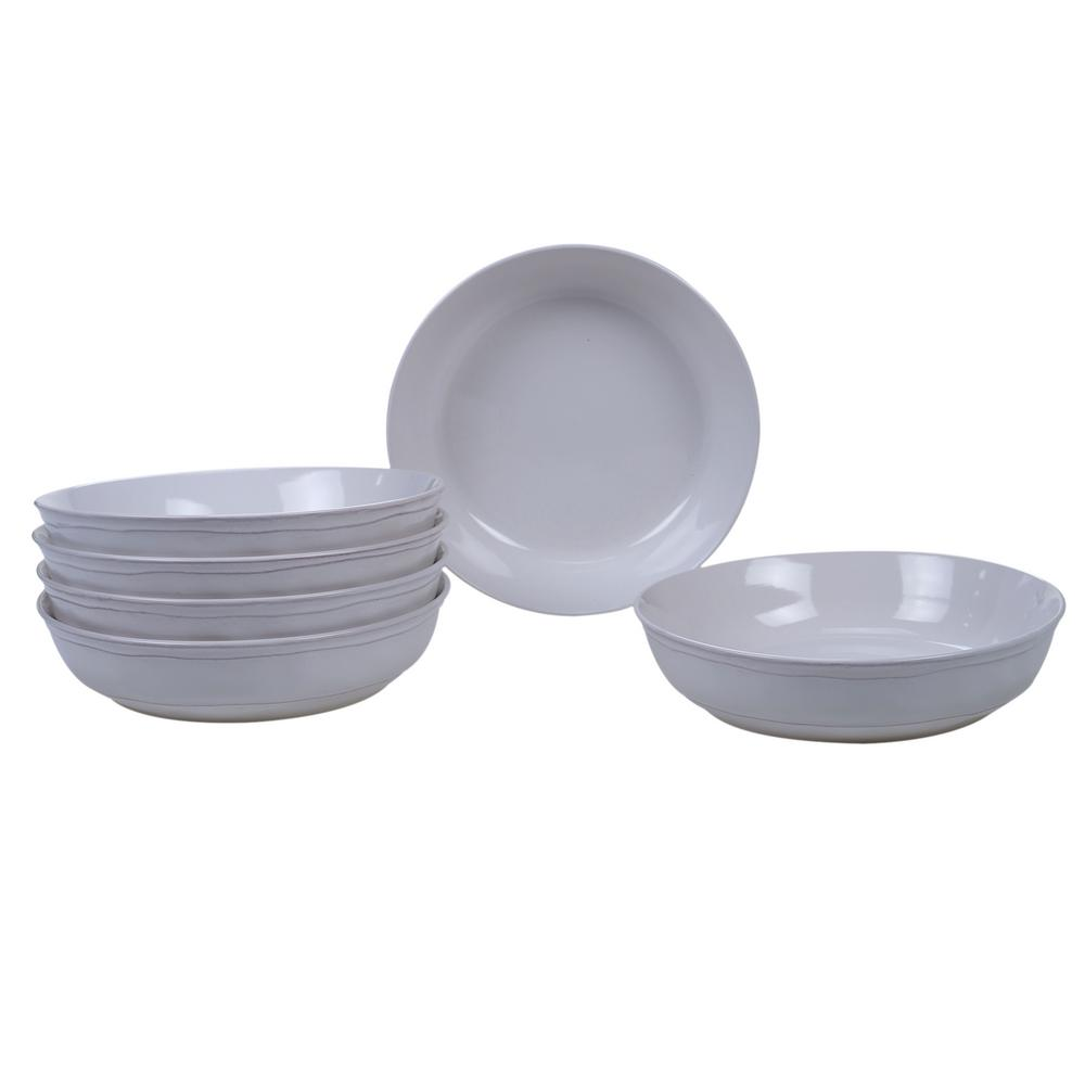 Orbit 6-Piece Cream 8.5 in. x 2 in. Soup Bowl Set