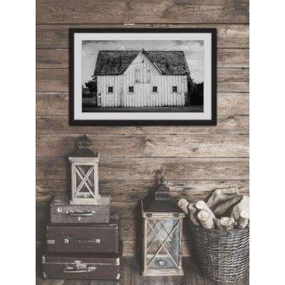 "30 in. H x 45 in. W ""Grange Blanche"" by Marmont Hill Framed Printed Wall Art"