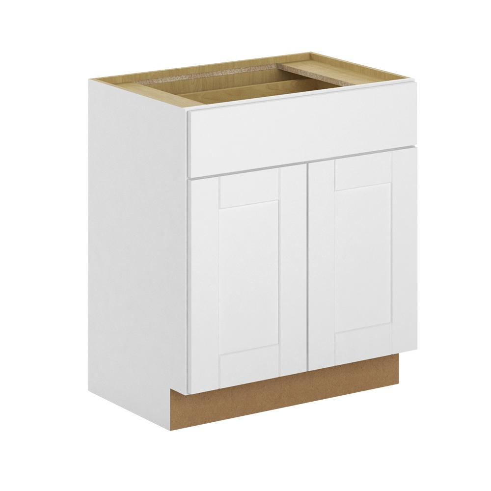 Princeton Shaker Embled 36x34 5x21 In Base Bathroom Vanity Cabinet Warm