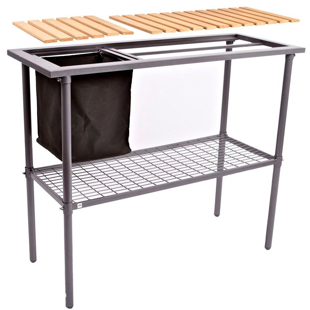 Weatherguard Garden And Greenhouse Composite Wood Top Potting Bench Table Is 92011 The Home