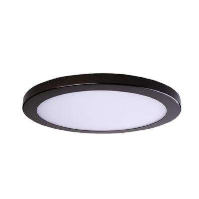Round Slim Disk Length 11 in. Bronze New Construction Recessed Integrated LED Trim Kit Round Fixture 3000K Warm White