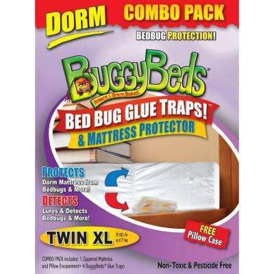Bed Bug Mattress and Detector Combo - Twin XL (4-Pack)
