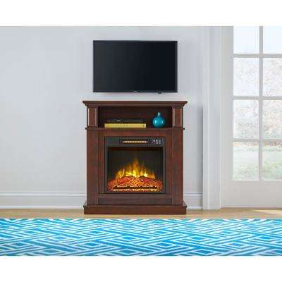 Albury 31 in. Freestanding Compact Infrared Electric Fireplace in Cherry