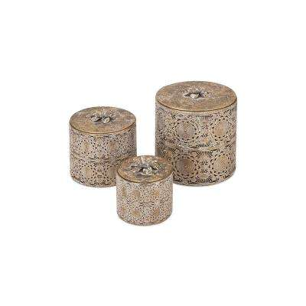 Jennings Iron Pierced Boxes (Set of 3)