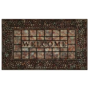 Achim Pebble Squares 18 inch x 30 inch Raised Rubber Door Mat by Achim