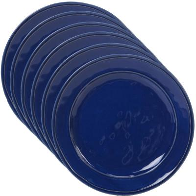 Orbit 6-Piece Cobalt Blue 11 in. Dinner Plate Set