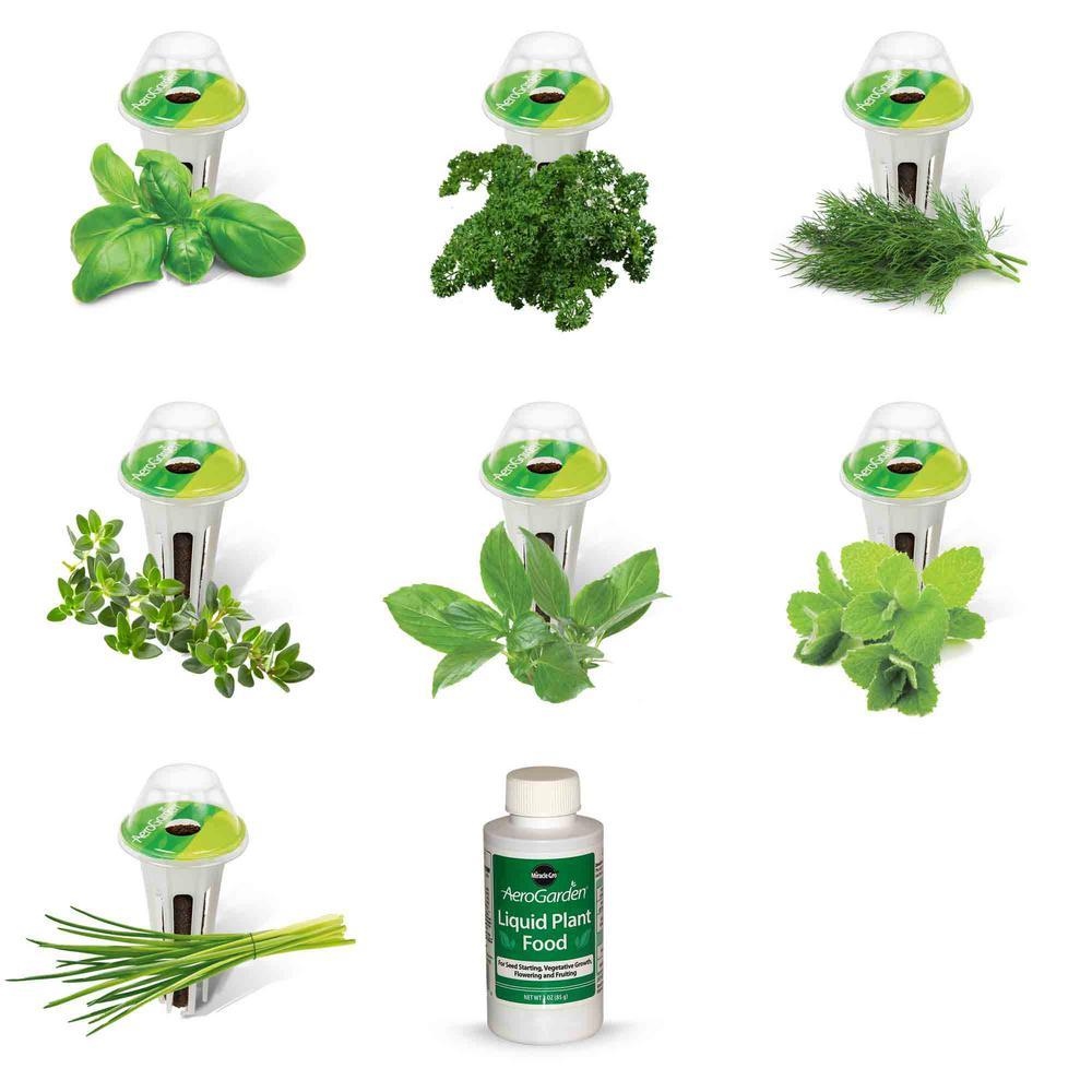 Aerogarden Pods Home Depot: AeroGarden Gourmet Herb Seed Pod Kit (7-Pod)-800500-0208