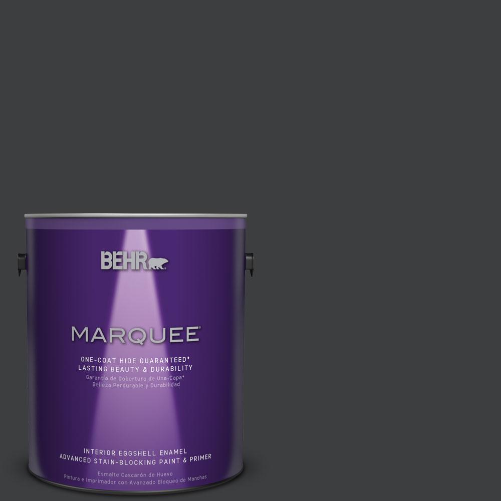 behr marquee 1 gal n520 7 carbon eggshell enamel one coat hide