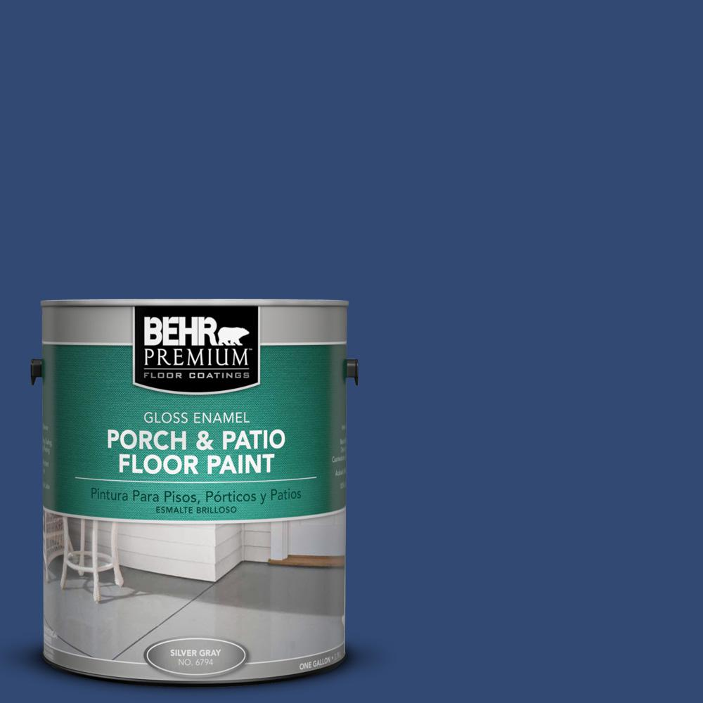 S H 580 Navy Blue Gloss Porch And Patio Floor