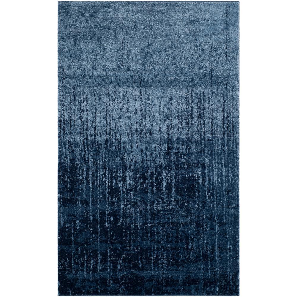 Safavieh Retro Light Blue/Blue 8 ft. x