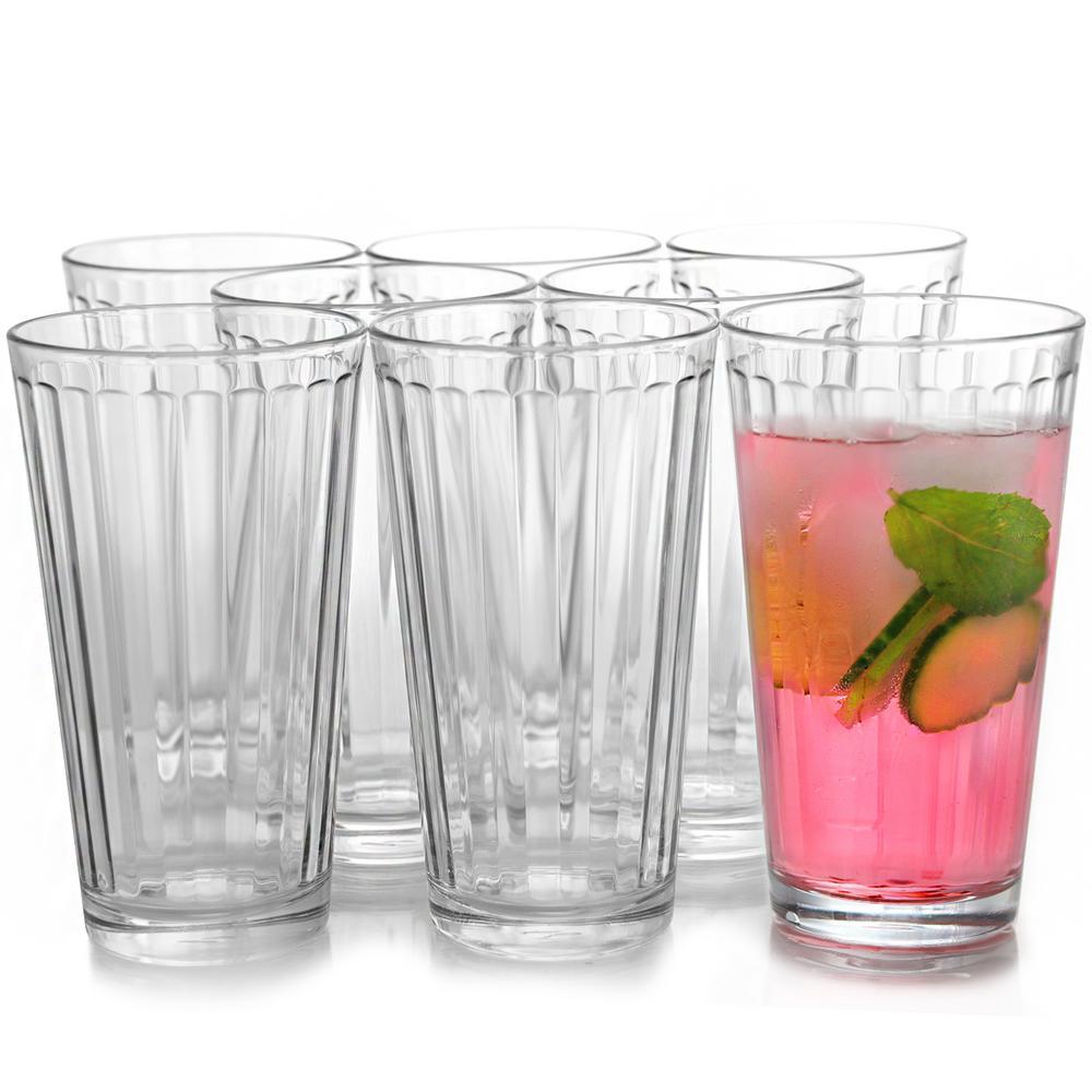 Cosmopolitan 16.75 oz. Clear Cooler Glasses (8-Pack)