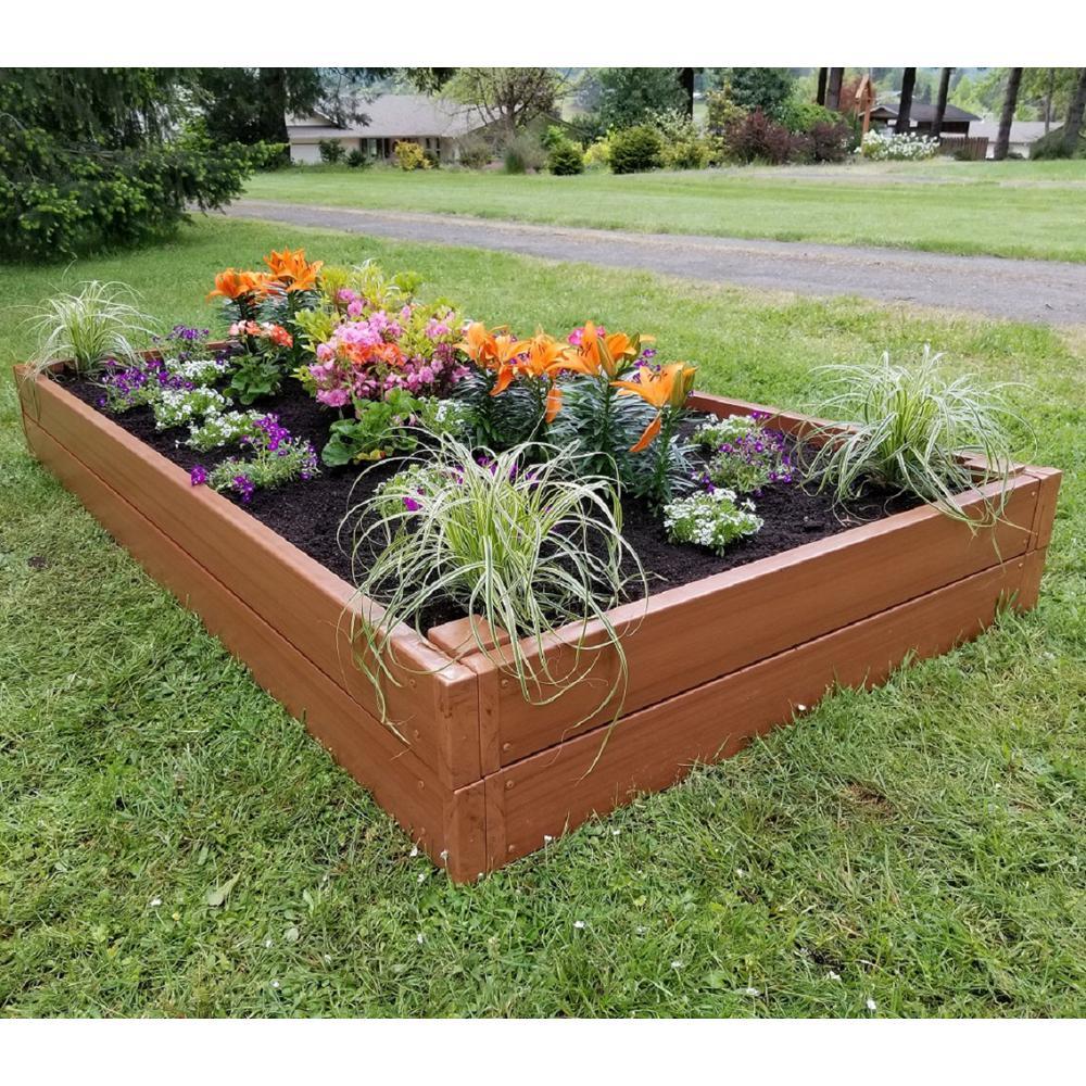 4 ft. x 8 ft. x 11.5 in. Organic Certified Western Red Cedar Tone Raised Garden Bed