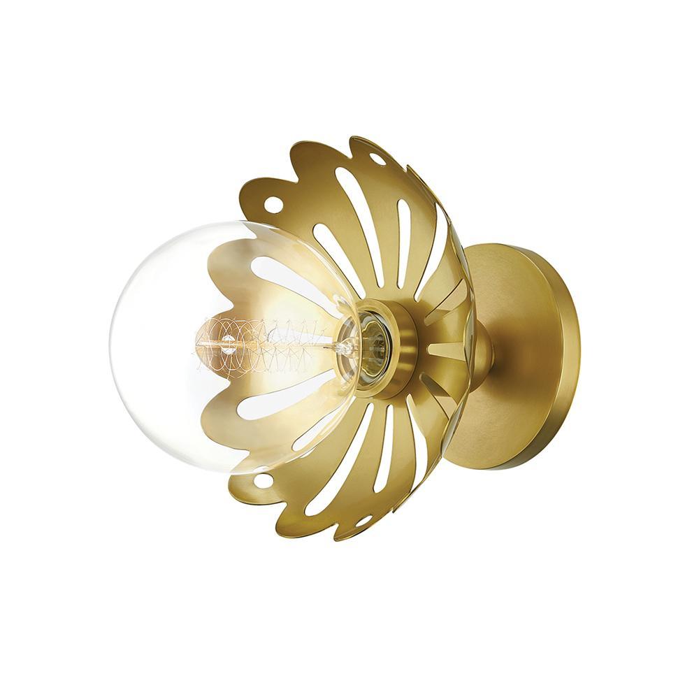 Alyssa 1-Light Aged Brass Wall Sconce
