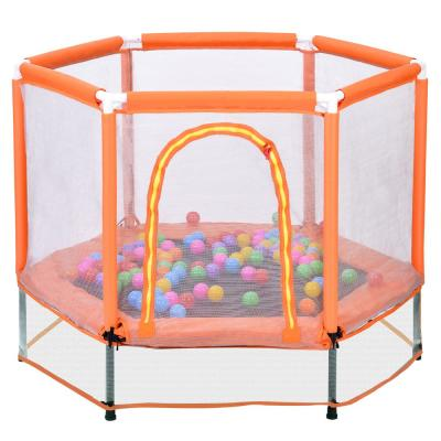 55-inch Trampoline w/ Safety Enclosure Net and Balls for Kids