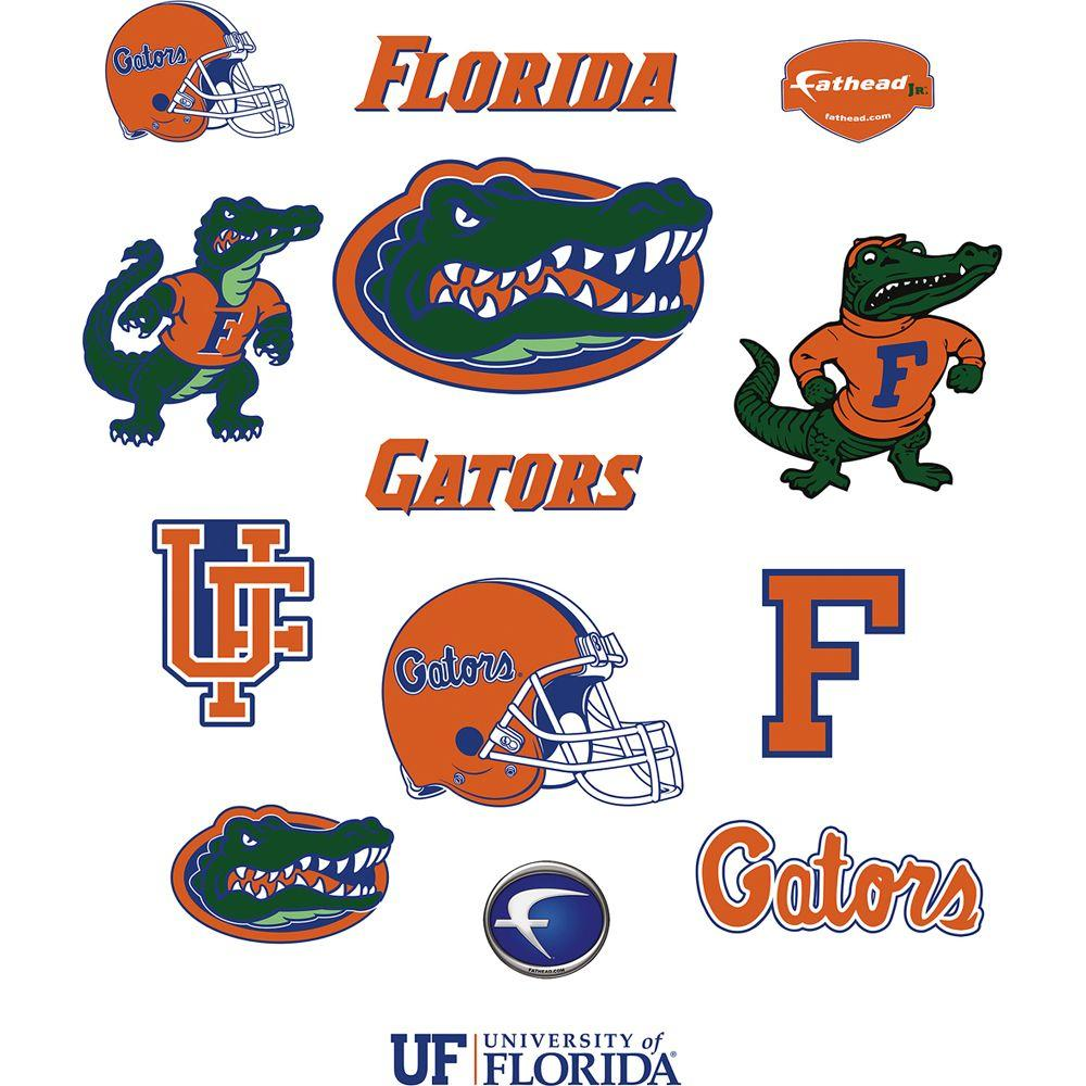 Fathead 40 in. x 27 in. Florida Gators Team Logo Assortment Wall Decal