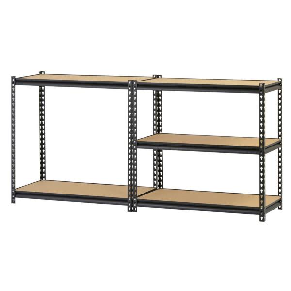 Muscle Rack Black 5 Tier Heavy Duty Steel Garage Storage Shelving 36 In W X 72 In H X 18 In D Ur 185pbb The Home Depot