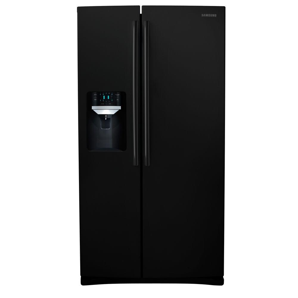 Samsung 25.6 cu. ft. Side by Side Refrigerator in Black-DISCONTINUED