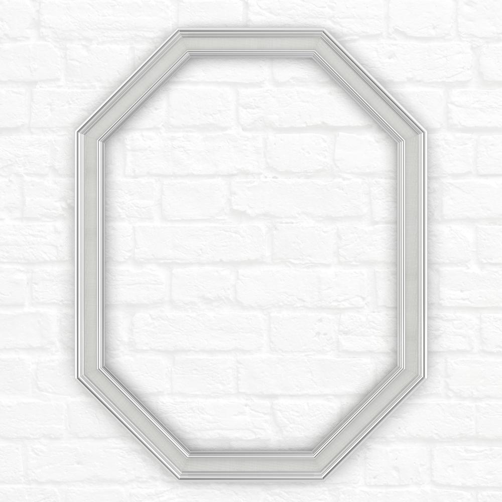 26 in. x 34 in. (M2) Octagonal Mirror Frame in Chrome