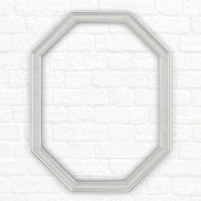 26 in. x 34 in. (M2) Octagonal Mirror Frame in Classic Chrome