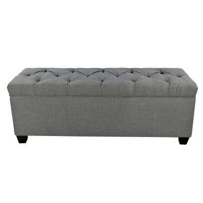Sean Sand Granite Diamond Tufted Large Storage Bench
