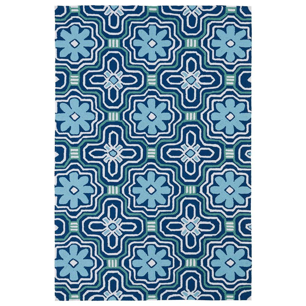 Matira Blue 8 ft. x 9 ft. Indoor/Outdoor Area Rug