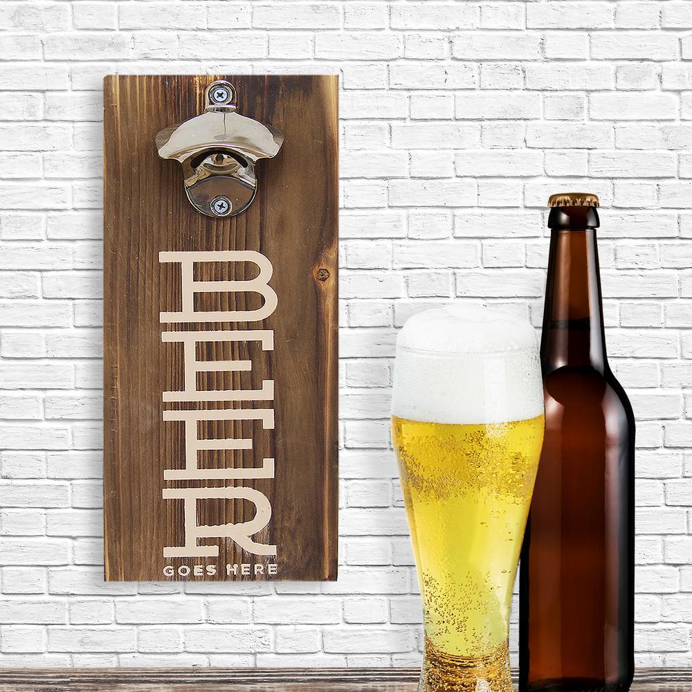 Stratton Home Decor Stratton Home Decor Beer Bottle Opener Decorative Sign by Stratton Home Decor