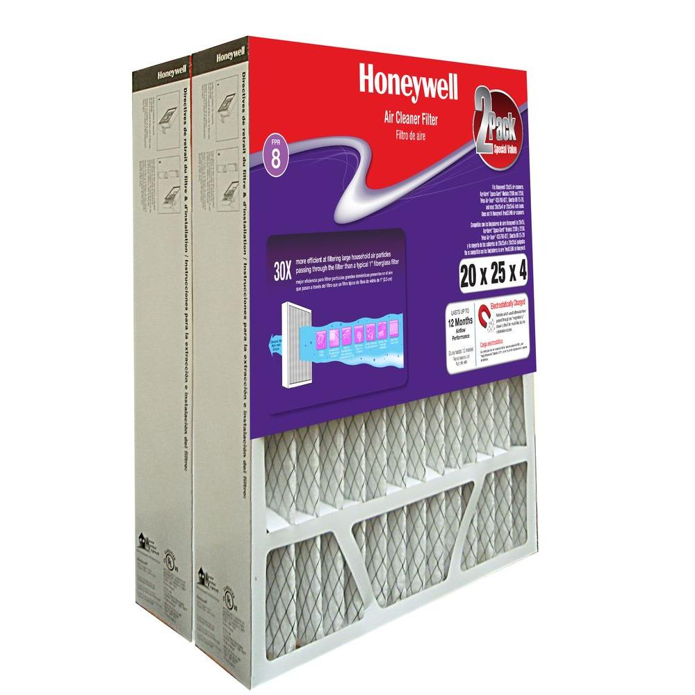 Honeywell 20 in. x 25 in. x 4 in. Pleated Air Cleaner Replacement ...