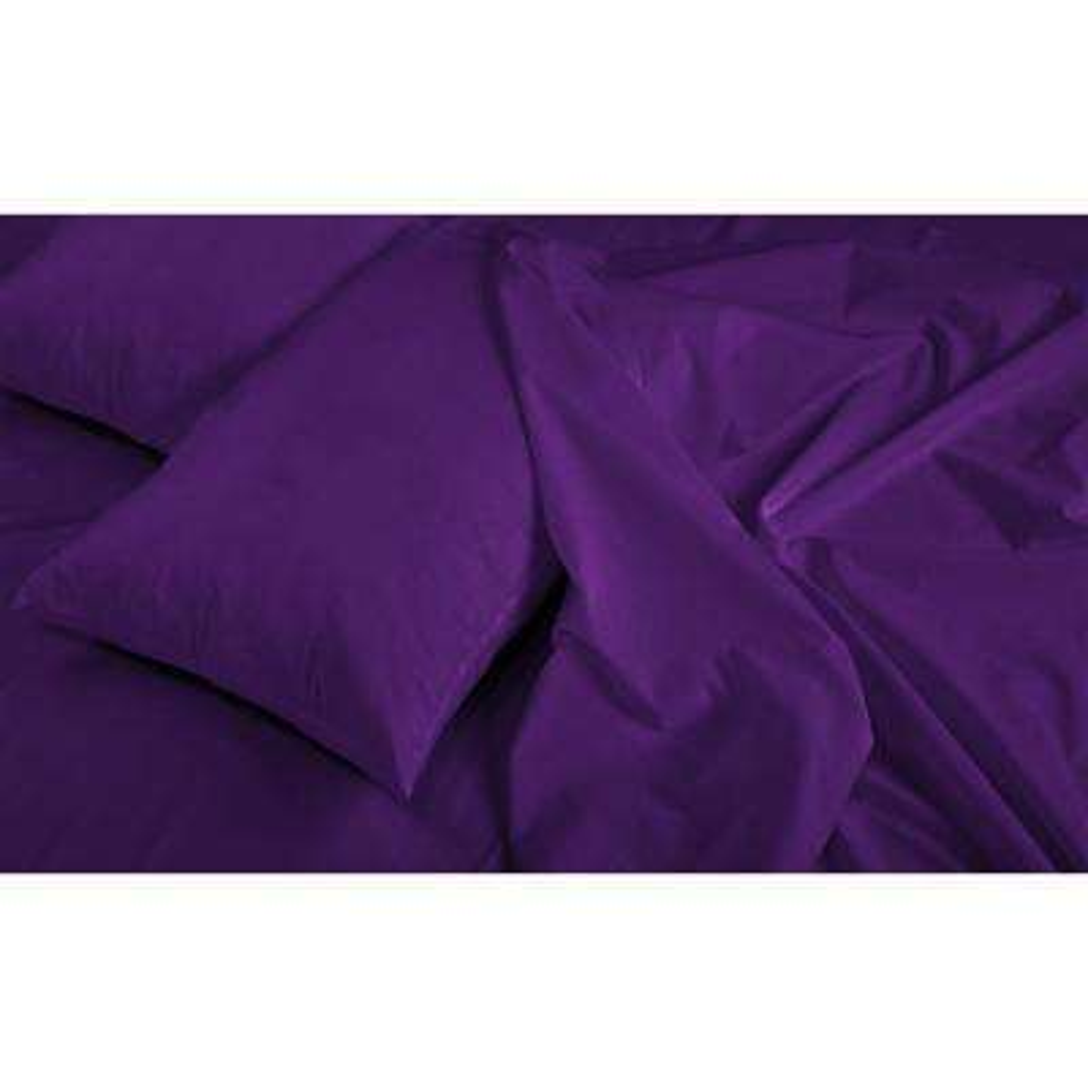 Jill Morgan Fashion 3-Piece Solid Purple Twin Sheet Set