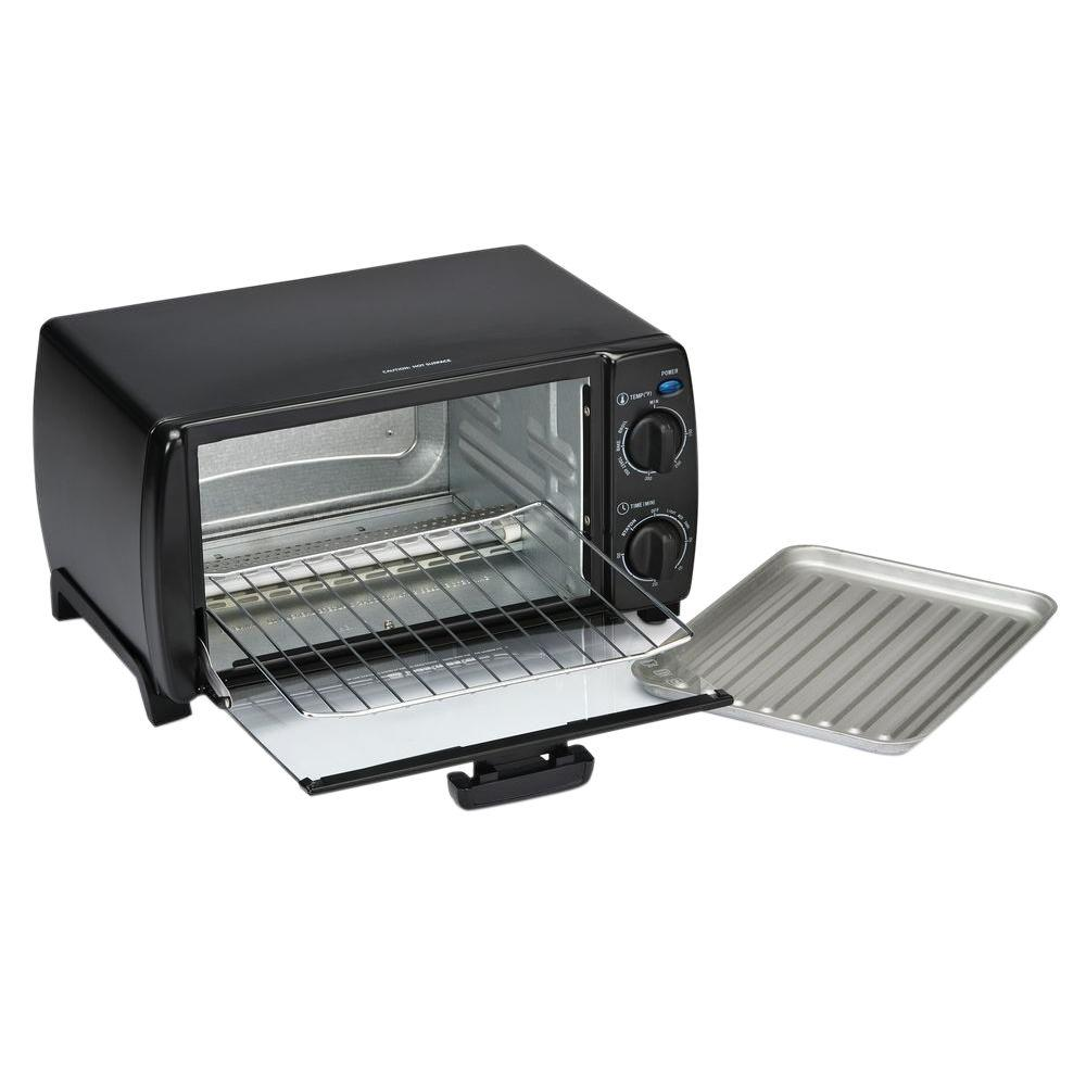 Toastmaster 4 Slice Black Toaster Oven 1693 The Home Depot