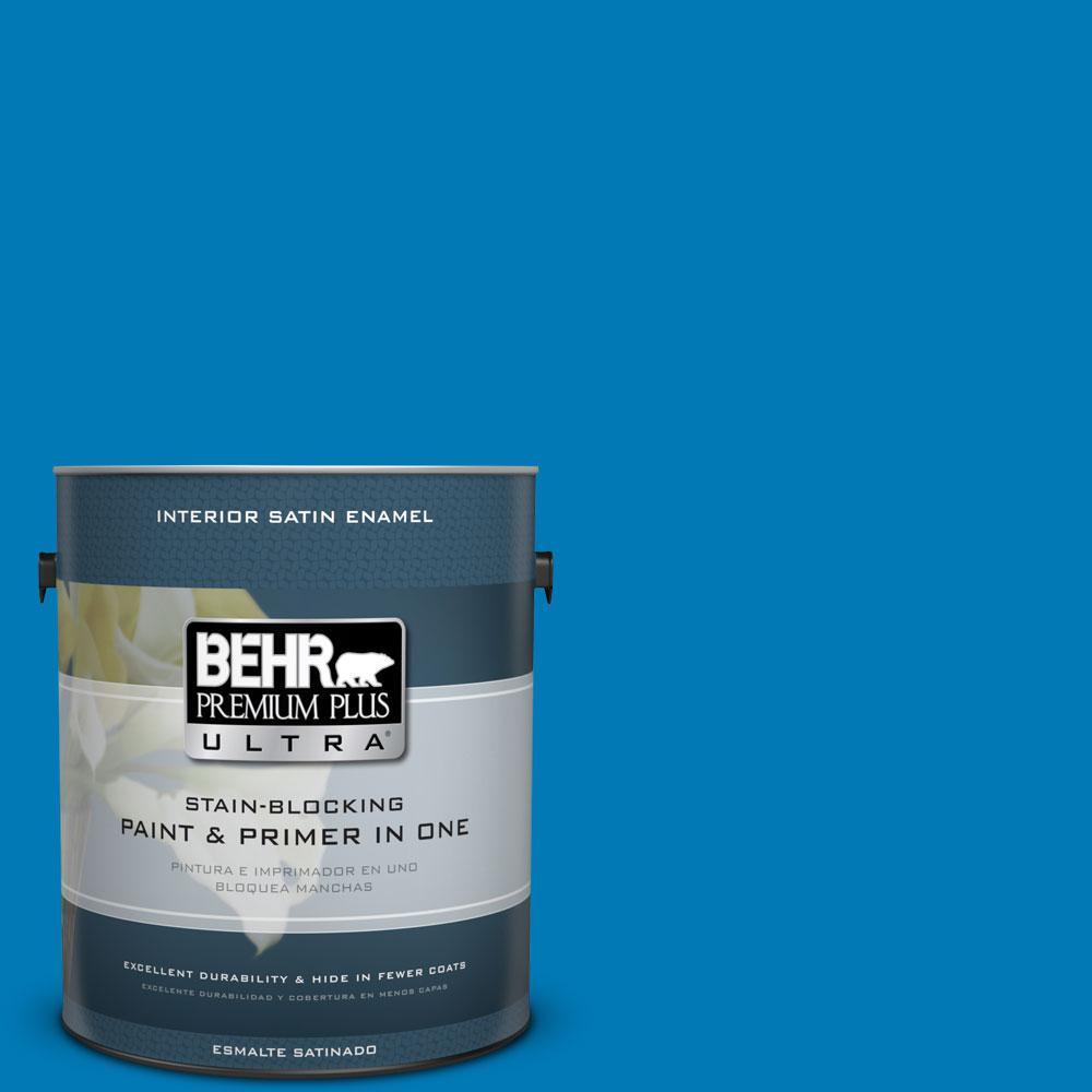 1-gal. #P500-6 Deep River Satin Enamel Interior Paint