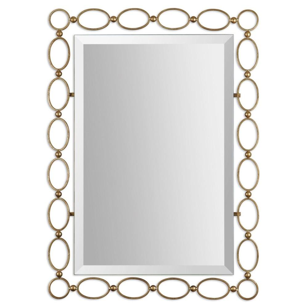 Global Direct 28 in. x 39 in. Gold Framed Mirror
