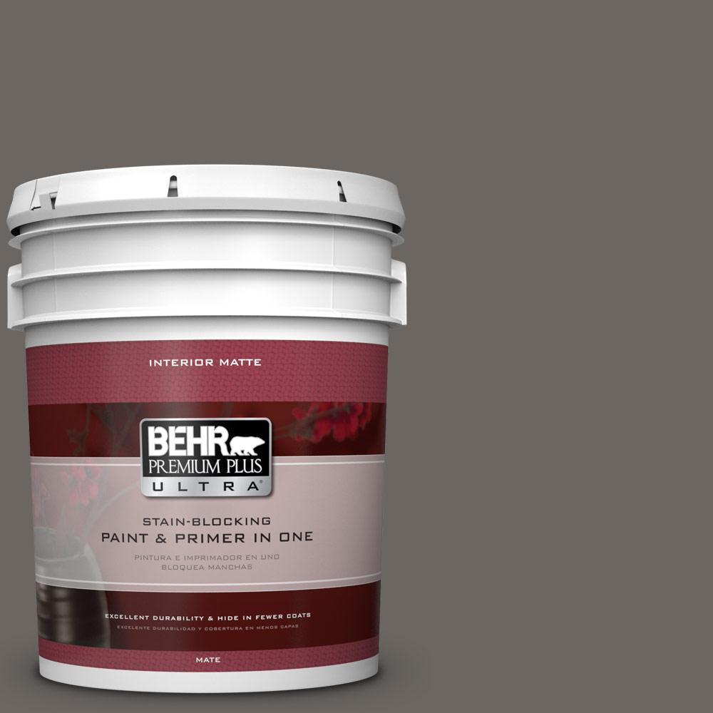 BEHR Premium Plus Ultra 5 gal. #790F-6 Trail Print Flat/Matte Interior Paint