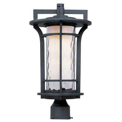 Oakville 10 in. Wide 1-Light Outdoor Black Oxide Post Light