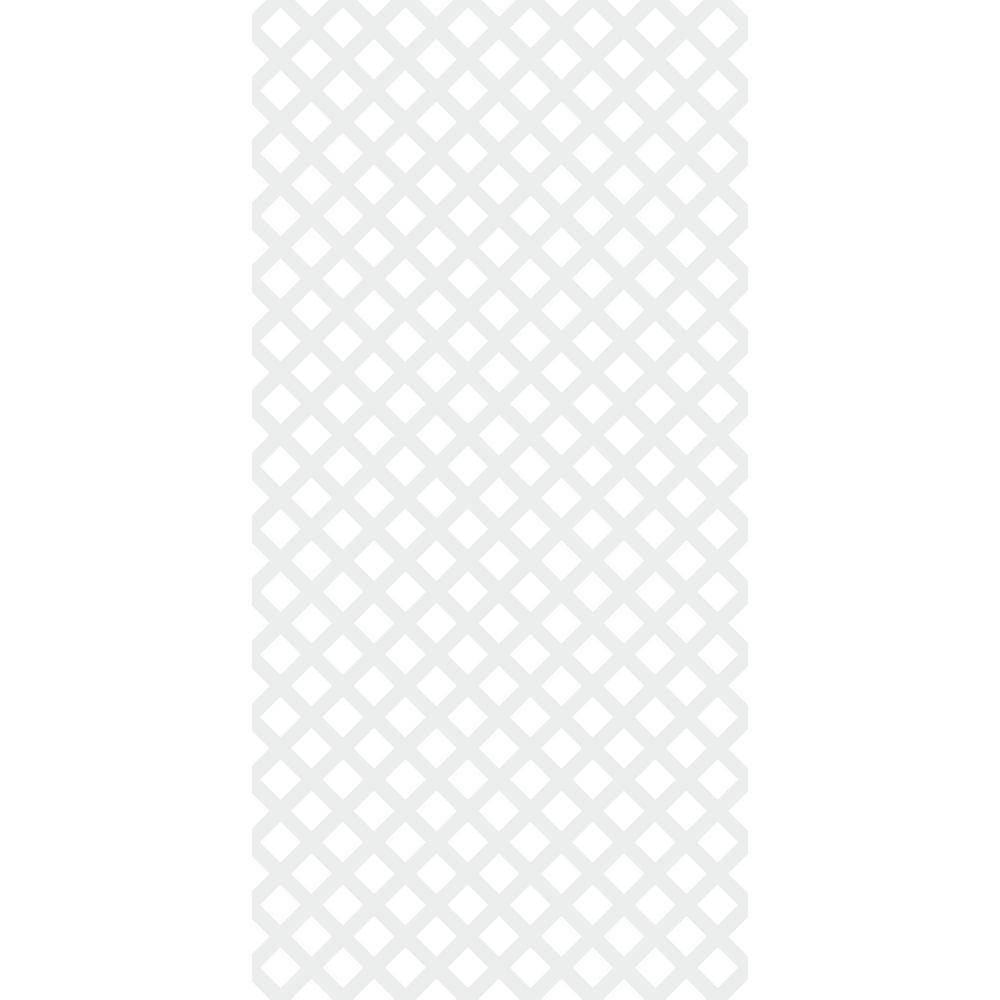 4 ft. x 8 ft. White Traditional Vinyl Lattice (2-Pack)
