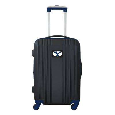 NCAA Brigham Young (BYU) 21 in. Navy Hardcase 2-Tone Luggage Carry-On Spinner Suitcase