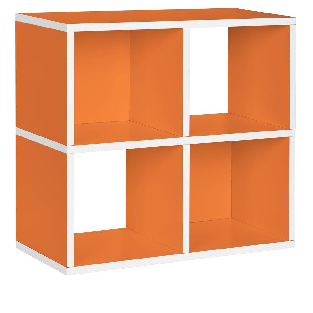 Way Basics Quad 4 Cubby 12 X 26.4 X 24.8 ZBoard Stackable Bookcase, Tool