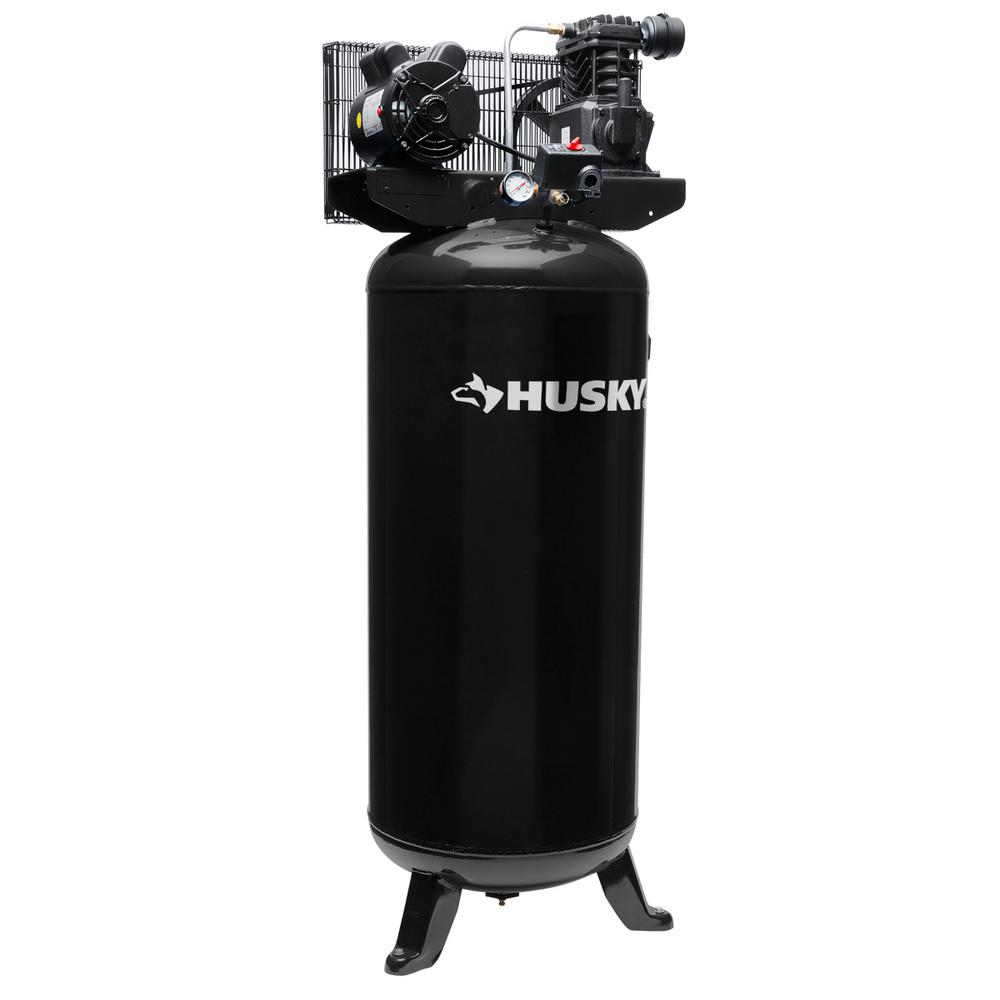 husky 60 gal electric air compressor vt6314 the home depot rh homedepot com Two-Stage Air Compressor 2 Stage Air Compressors Closeouts